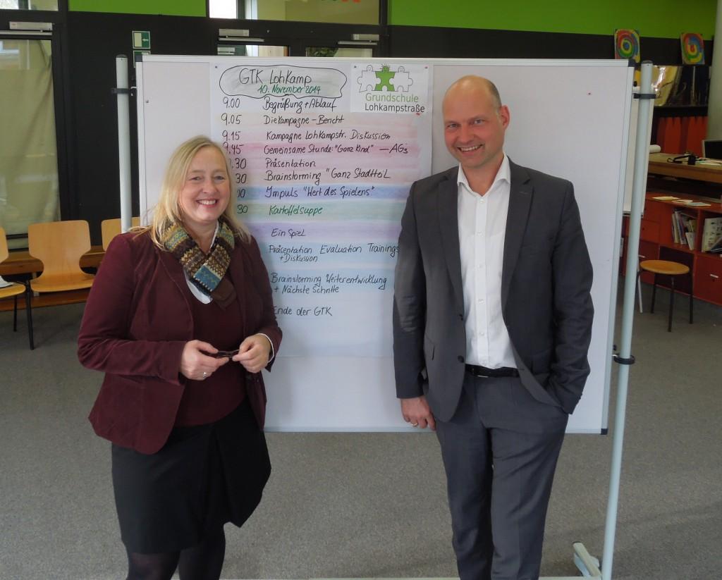 Vera Bacchi und Stefan Clotz im Team für einen besseren Ganztag